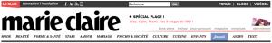 Capture d'écran, bandeau d'accueil, site marie-claire.fr, réalisée le 11 juillet 2012