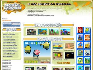 Capture d'écran site special-garcon.com, 12 juillet 2012