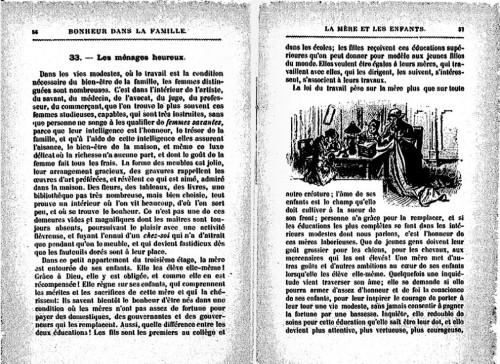 Le manuel d'instruction du XIXe, une rhétorique pour les femmes