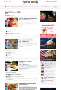 """Capture d'écran 13 mai 2014, sélection """"Cuisine"""", Hellocoton"""